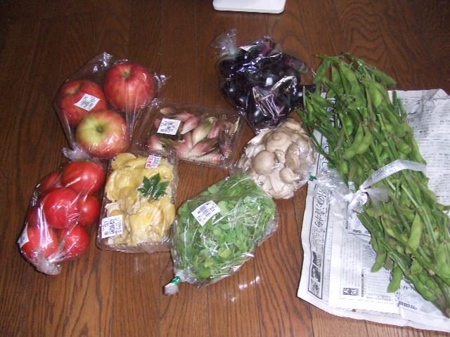 朝取りの野菜